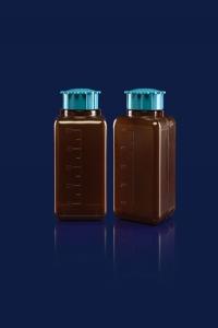 بطری های پودری چهارگوش پلی اتیلن سفید و رنگی